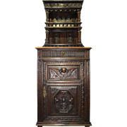 Early American 18th Century Court Cabinet Celebrating the year 1713