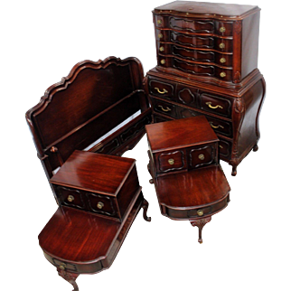 Early 20th Century Solid Mahogany French Provincial Bedroom Set