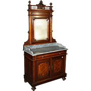 19th Century Italian Umbertino Marquetry Dresser