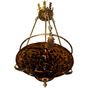 Maitland Smith Art Glass Pendant Chandelier