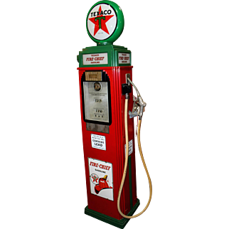 1937 Texaco Fire-Chief Service Station Gas Pump Light- Restored Tokheim 36B