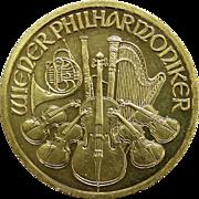 1998 Austria 1 oz Gold Philharmonic 2000 Schilling Coin