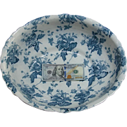 LARGE Floral Furnivals England English Transferware Porcelain Bowl