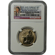 2014 D Sacagawea $1 SP69 Enhanced Finish Commemorative Dollar Coin