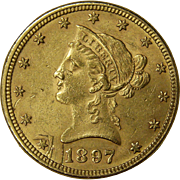 1897 Ten Dollar Gold Liberty Head Coin $10