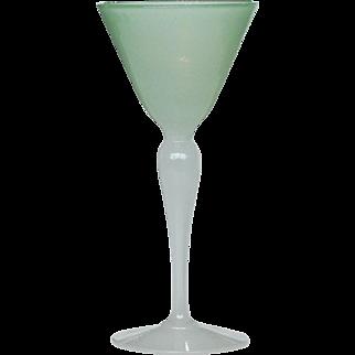 Vintage Antique Stevens & Williams Jade Alabaster Opaline Wine Glass Stem