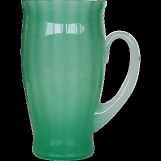 Signed Steuben Jade Alabaster Mug Cup Glass Antique Vintage