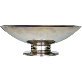 Tiffany & Co Sterling Silver Art Deco Compote Bowl