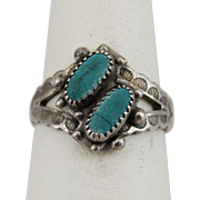Sterling Silver Turquoise Vintage Ring