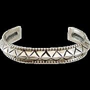 Sterling Silver Signed Vintage Cuff Bracelet