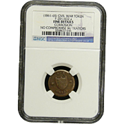 NGC Certified Civil War Token Copper Cent (1861-65) F-201/432 a