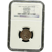 NGC Certified Civil War Token Copper Cent (1861-65) F-51/334 a