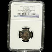 NGC Certified Civil War Token Copper Cent (1863) F-61/355 a