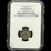NGC Certified 1863 Jackson MI Copper Cent Token F-525C-7 a