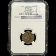 NGC Certified Civil War Token Copper Cent (1863) F-86-357 a