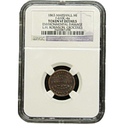 NGC Certified Copper Coin Token 1863 Marshall, MI F-610C-4 a