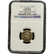 NGC Certified Civil War Token Copper Cent (1863) F-36/340 a