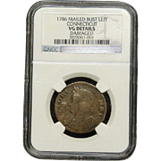 NGC Certified 1786 Connecticut Copper Coin Cent