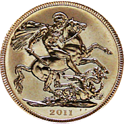 British 2011 Gold Sovereign Coin UNCIRCULATED