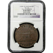 NGC Certified Buffalo NY W.A. Thomson Coin Token (1838-39) HT-213