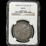 NGC Certified Silver Republica Del Centro De America Coin (1824)