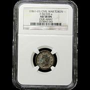 NGC Certified Civil War Token Copper Cent (1861-65) F-50/335 a