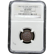 NGC Certified Civil War Token Copper Cent (1861-65) F-221/324 a