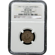NGC Certified Civil War Token Copper Cent (1861-65) F-450/471 a