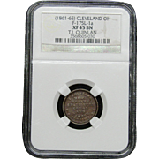 NGC Certified Copper Coin Token (1861-65) F-175L-1 a