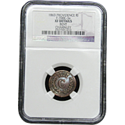 NGC Certified Copper Coin Token (1863) F-700C-3 a