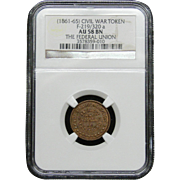 NGC Certified Civil War Token Copper Cent (1861-65) F-219/320 a