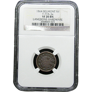 NGC Certified Copper Coin Token (1863) F-119/398 a