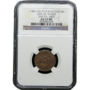 NGC Certified Copper Coin Token (1861-65) S-B25C
