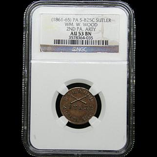 NGC Certified Copper Coin Token (1861-65) S-B25C