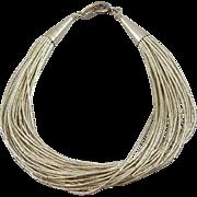 Vintage Estate 30-strand Liquid Silver Bracelet