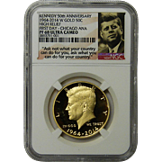 2014-W 3/4 oz Gold Kennedy 1/2 Dollar PR-68 NGC