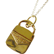 Victorian 10kt Gold Purse Charm Locket