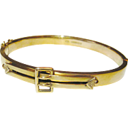 Edwardian 9kt Gold Buckle Bracelet