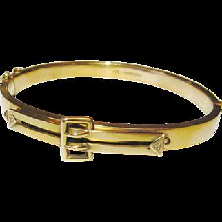 Edwardian 9kt Gold Buckle Bracelet
