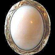 Edwardian Angel Skin Coral 14kt Gold Ring