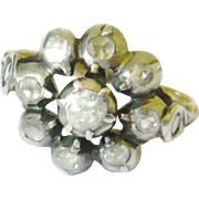 Victorian Rose Diamond Cluster Ring