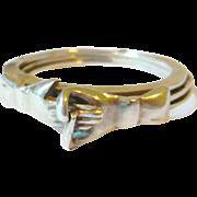 Victorian Sterling Silver Fede Gimmel Ring