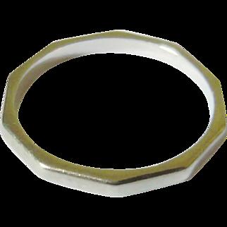 Art Deco 18kt White Gold Wedding Band