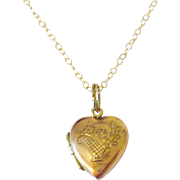 Edwardian 9kt Gold Heart Charm Locket