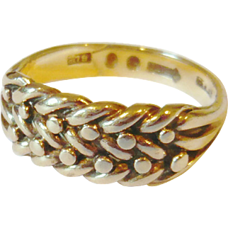 Early 20th Century 9kt Gold Keeper Ring