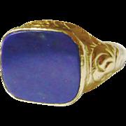 Georgian 18ct Gold Lapis Lazuli Ring