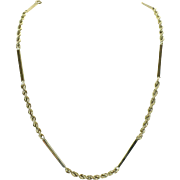 Vintage 20 Inch Fancy 14kt gold rope chain 2.85MM wide