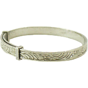Vintage  Sterling Silver adjustable baby bangle