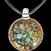 Estate Art glass pendant in fall colors