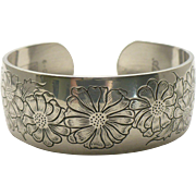 "Kirk Pewter cuff bracelet  ""Aster"""